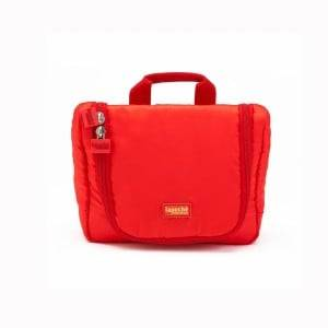 05 Small Travel Toiletry Bag Red